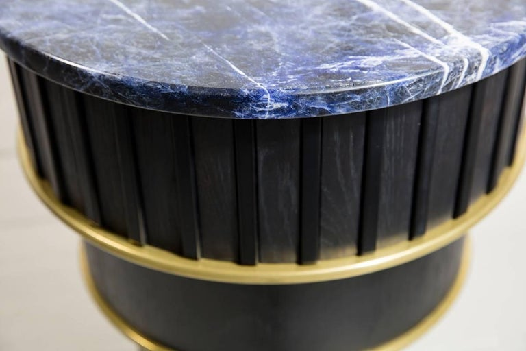 Other Greta Sodalite Side Table by Felice James, 2017 For Sale