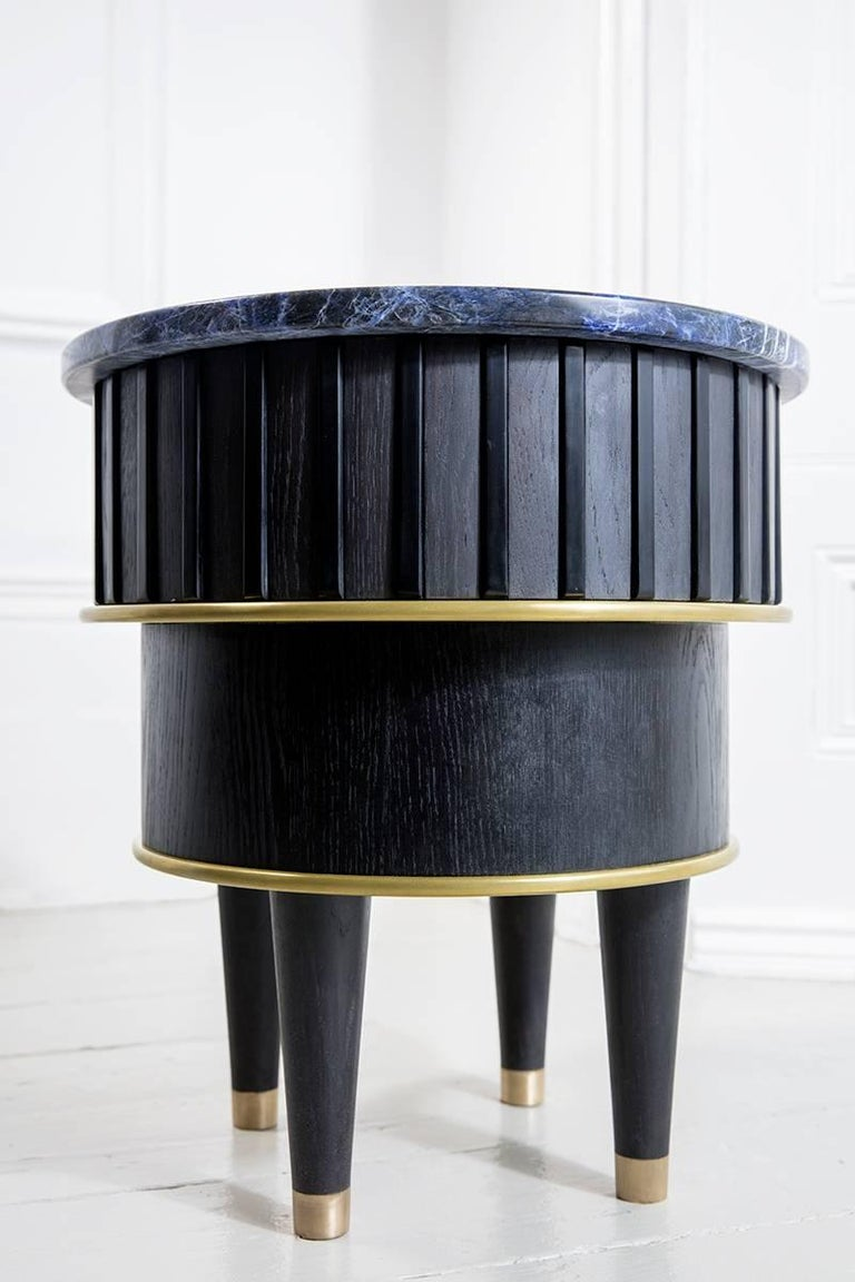 British Greta Sodalite Side Table by Felice James, 2017 For Sale