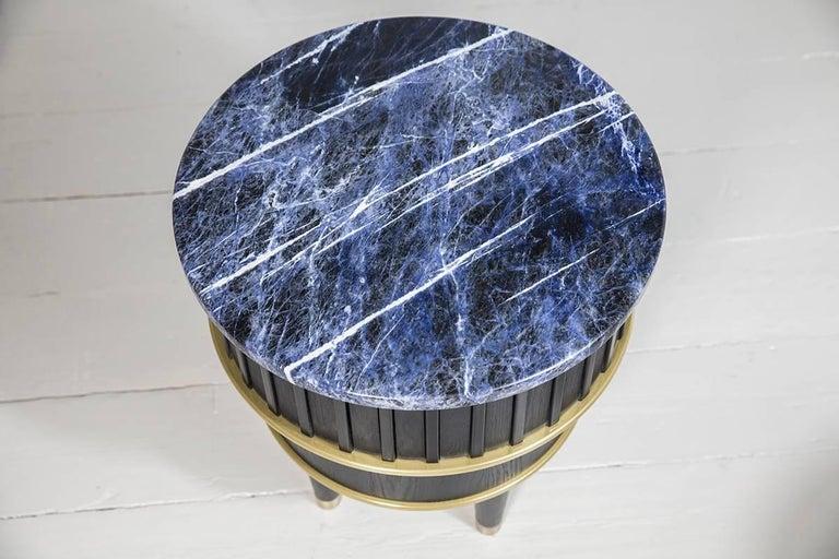 Blackened Greta Sodalite Side Table by Felice James, 2017 For Sale