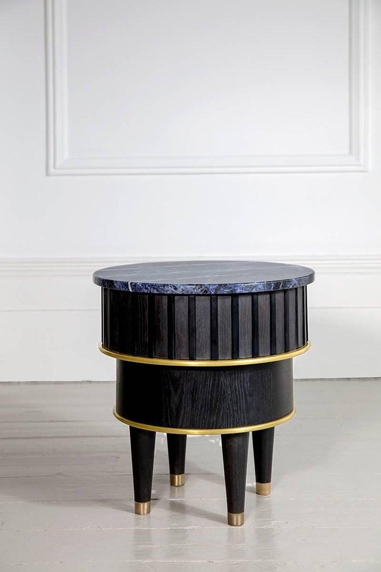 Precious Stone Greta Sodalite Side Table by Felice James, 2017 For Sale