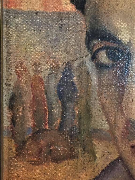 J. Cohen, Portrait of a Man, Oil Painting, circa 1950s For Sale 2