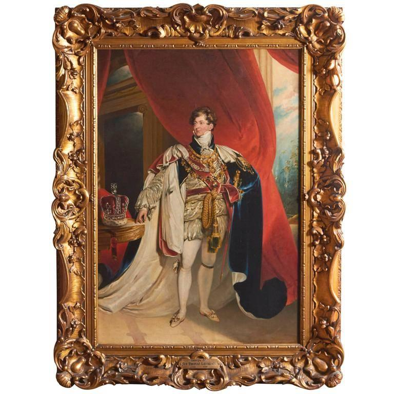 After Sir Thomas Lawrence, Coronation Portrait of King George IV For Sale