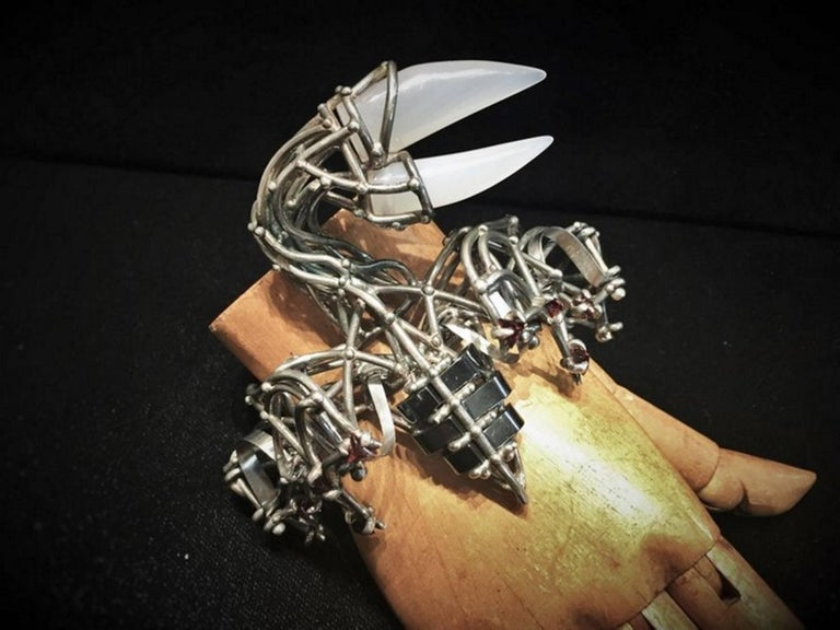 Other Val Stern, Pterodactyl, Sculptural Bracelet, 21st Century For Sale