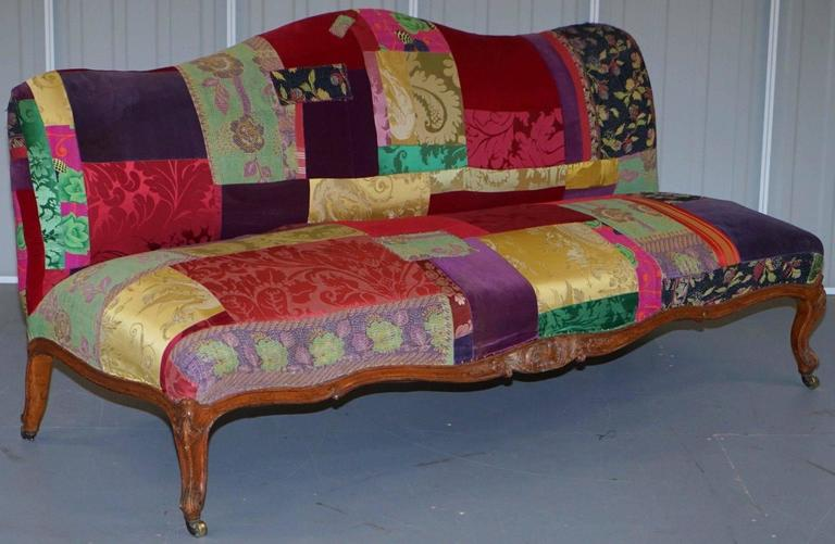 Rare Lisa Whatmough For Liberty London Victorian 1860 Satinwood Patchwork Sofa For Sale At 1stdibs