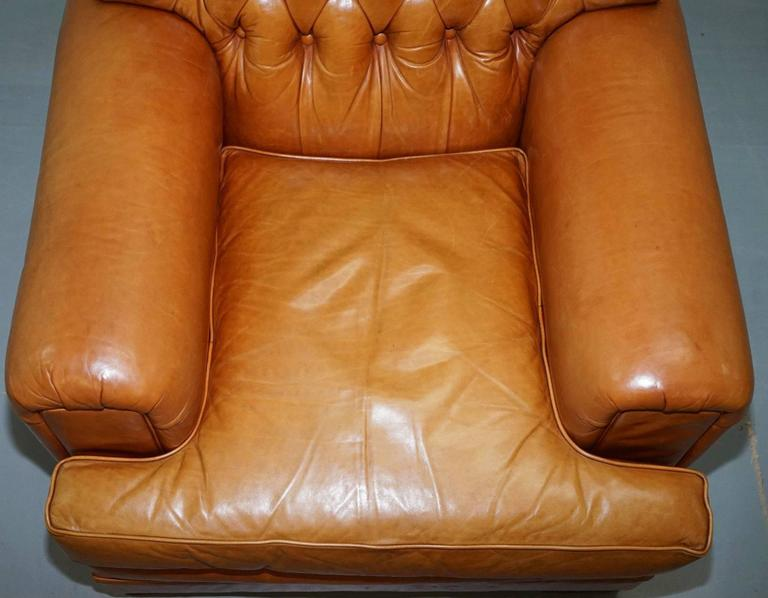 We are delighted to offer for sale this stunning lightly restored Ralph Lauren armchair  Please note the delivery fee is just a guide, for an accurate cost please send me your postcode for a quote   The chair is upholstered with 100% cattle hide