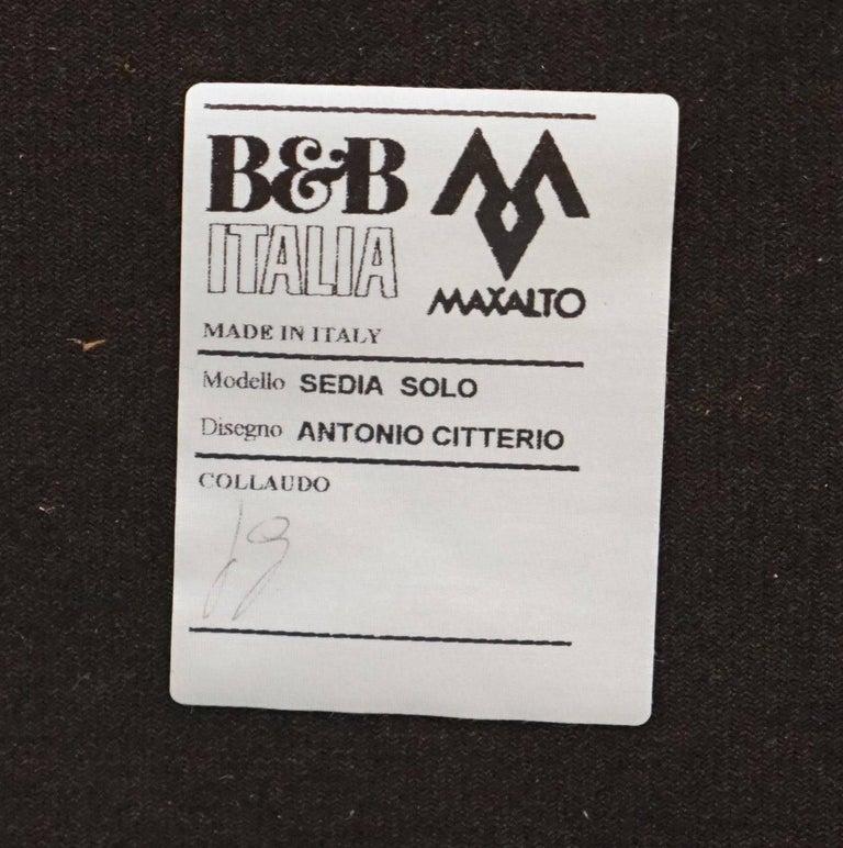 Four Antonio Citterio B&B Italia S47 Solo Dining Chairs Cream Leather For Sale 2