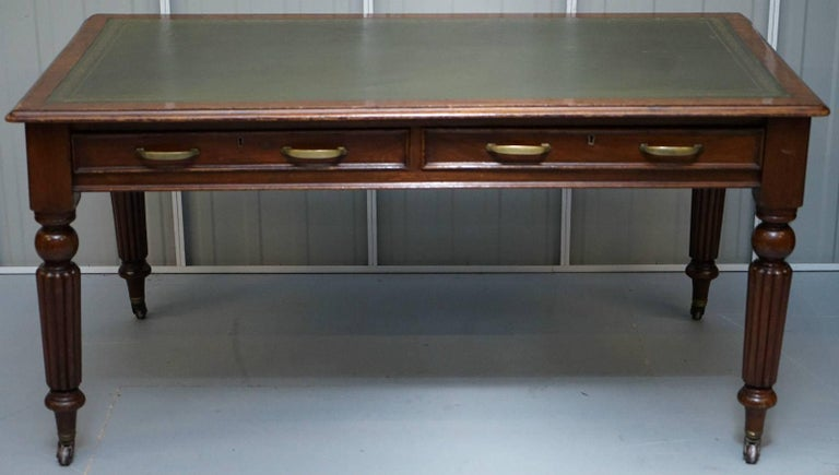Antique & Vintage furniture Wimbledon  We are delighted to offer for sale this lovely antique Walnut Gillows writing table partner desk with leather writing surface  Please note the delivery fee listed is just a guide, for an accurate quote please
