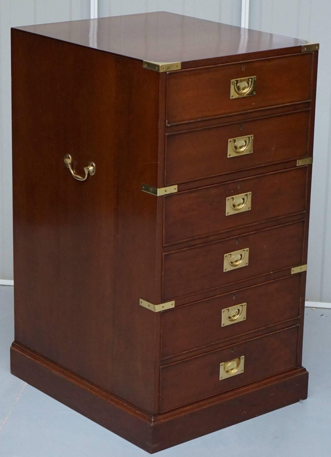 Kennedy Harrods London Campaign Three Large Drawer Filing Cabinet ...
