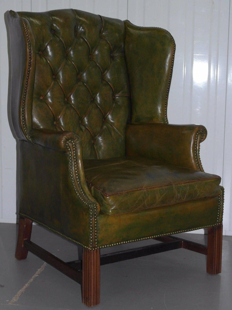 WIMBLEDON-FURNITURE  We are delighted to offer for this stunning Antique Georgian / Victorian Chesterfield wingback armchair  Please note the delivery fee listed is just a guide, for an accurate quote please send me your postcode and I'll price it