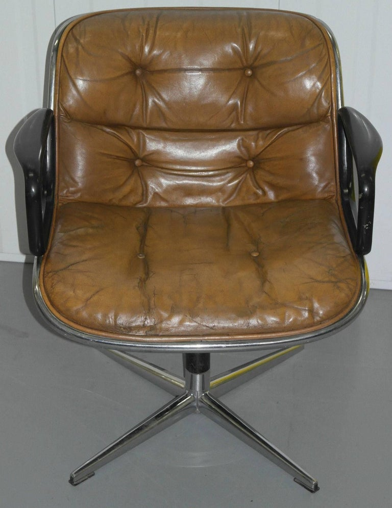 American Original 1963 Knoll Charles Pollock Executive Chair with All Original Labels For Sale