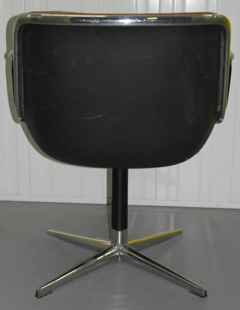 Chrome Original 1963 Knoll Charles Pollock Executive Chair with All Original Labels For Sale