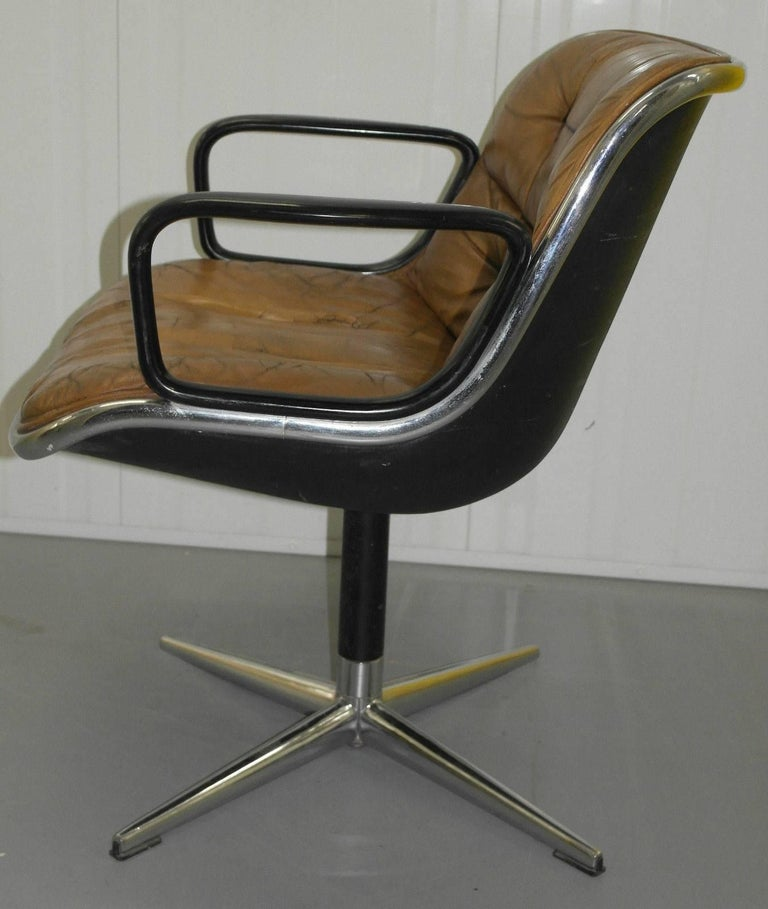 Original 1963 Knoll Charles Pollock Executive Chair with All Original Labels For Sale 1
