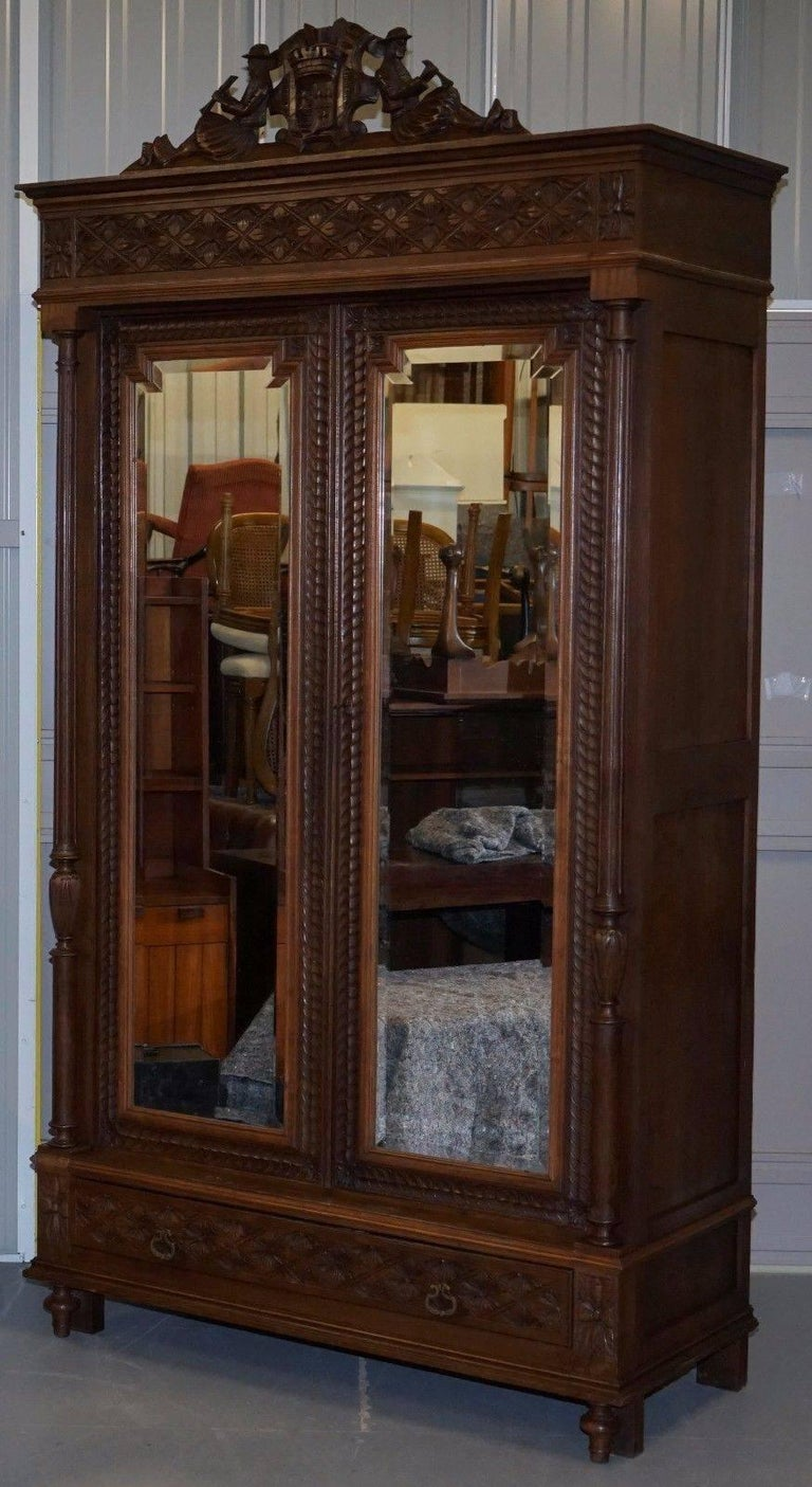 We are delighted to offer for sale this absolutely stunning handmade in france armoire wardrobe with