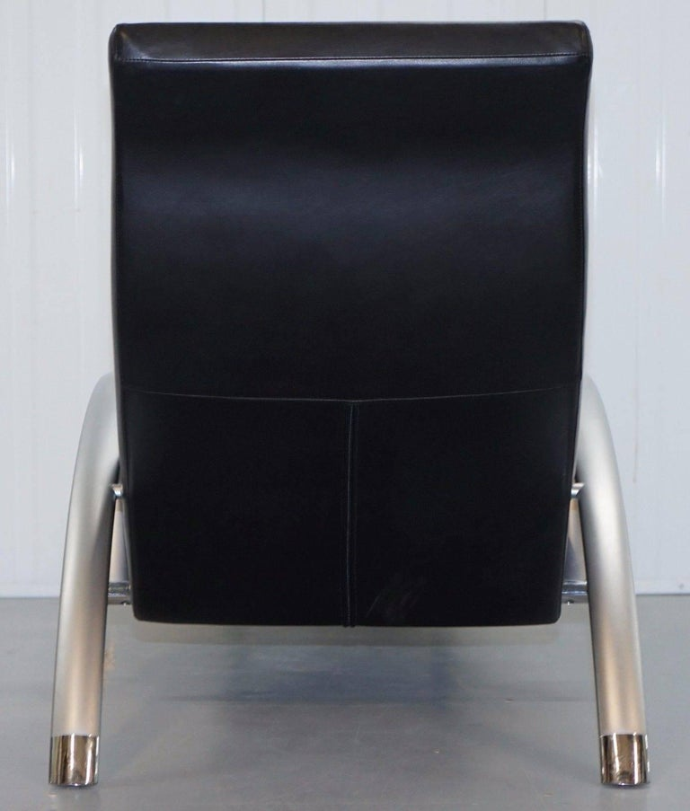 stunning rolf benz creation 2600 black leather contemporary lounge