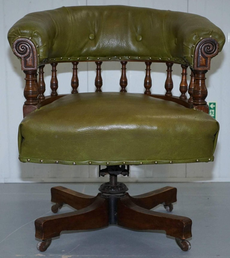 Surprising Rare Genuine Victorian Circa 1860 Chesterfield Buttoned Captains Office Chair Ocoug Best Dining Table And Chair Ideas Images Ocougorg