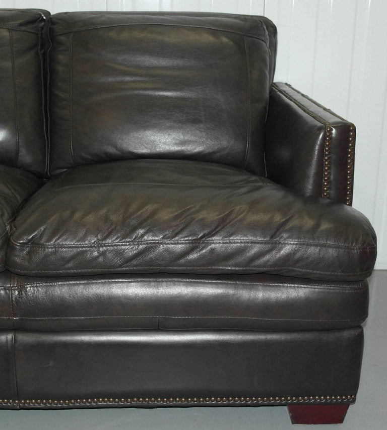 Leather Studded Sofa Brown Leather Sofa Remarkable Studded
