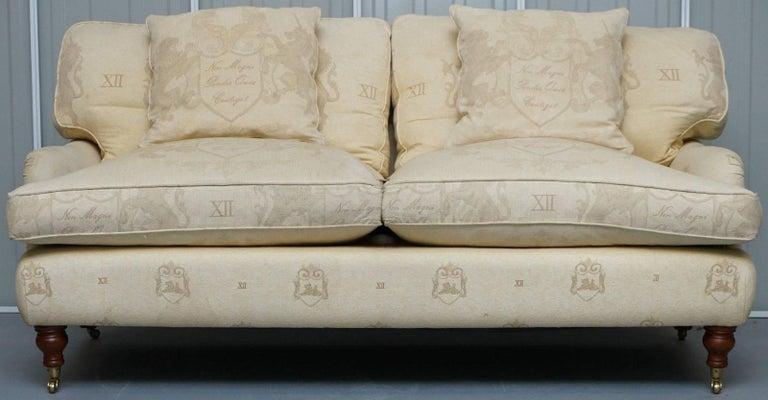 Andrew Martin Howard Style Sofa With Royal Magna Carta