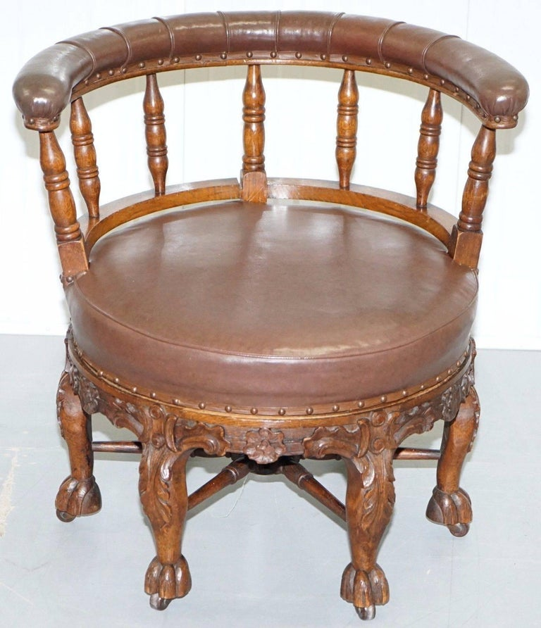 Fully Stamped 1860 Antique Dutch Colonial Burgermeister