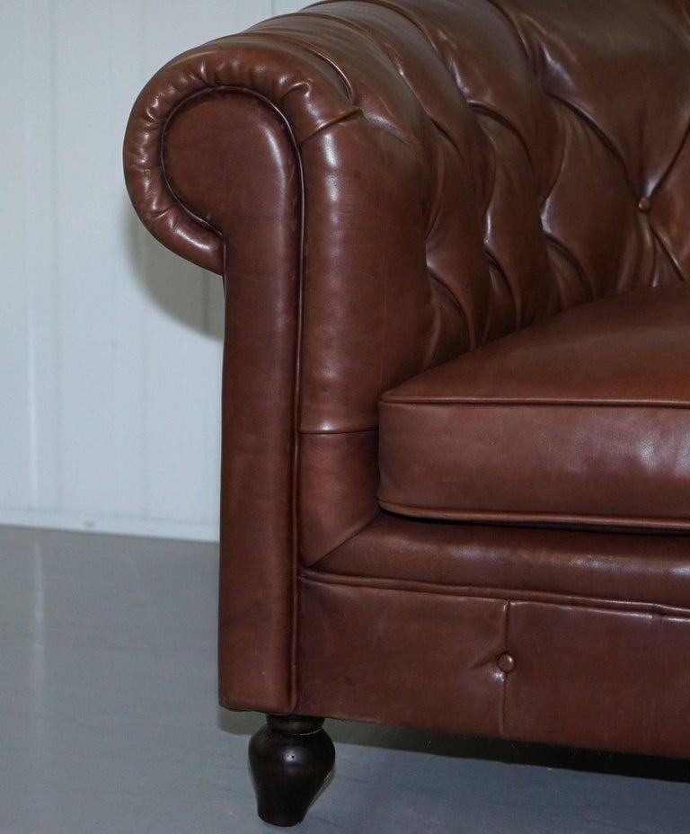 Soft Leather Sofa: Very Rare Bfelix Chesterfield Silky Soft Italian Brown