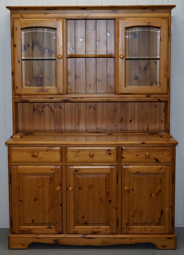 Welsh Dressers Display Bookcases Cabinet For We Are Delighted To Offer This Lovely Triple Bank Ducal Solid English Pine
