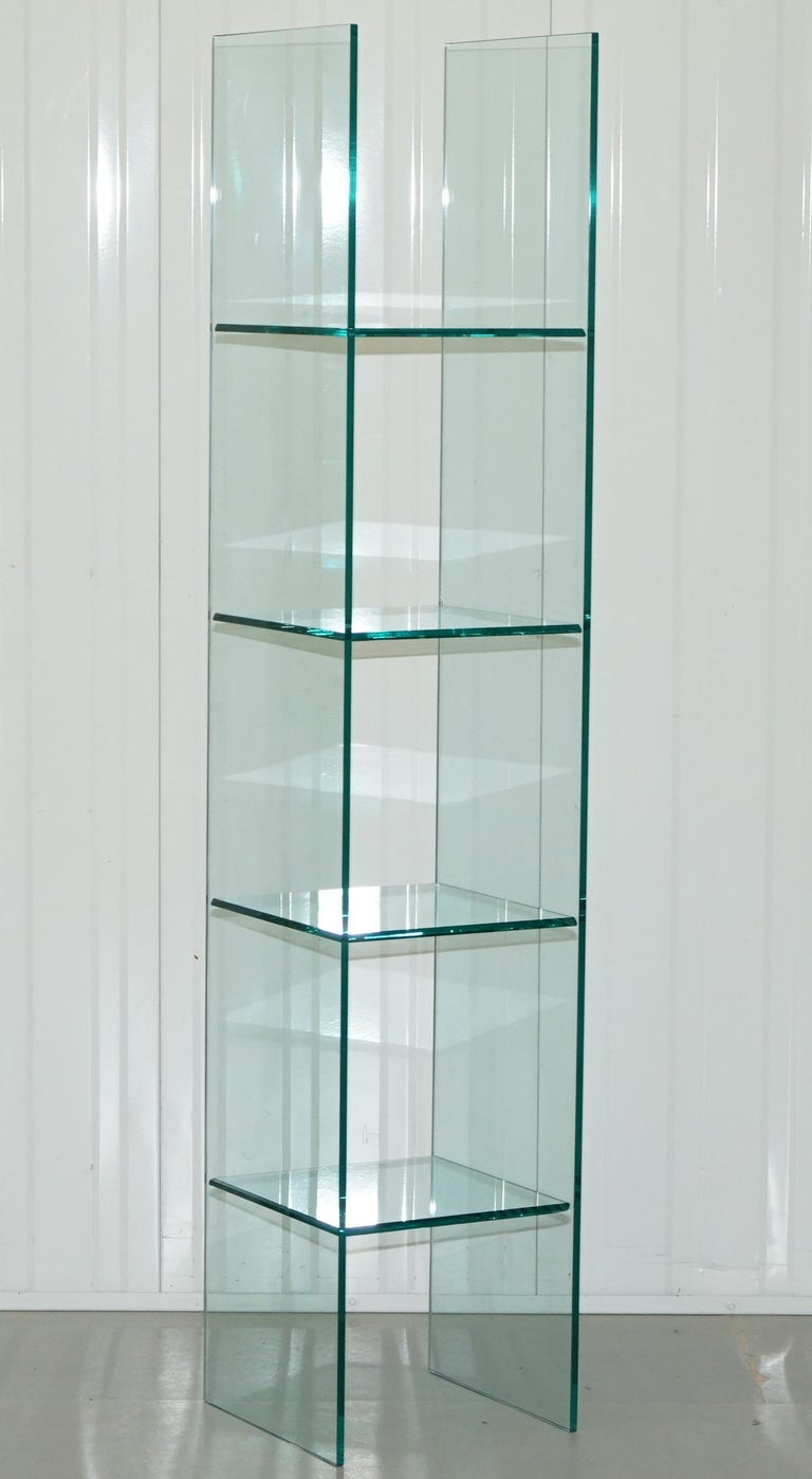 1987 BABELE GLASS SHELVES By MASSIMO MOROZZI, FIAM ITALIA BOOKCASE ...