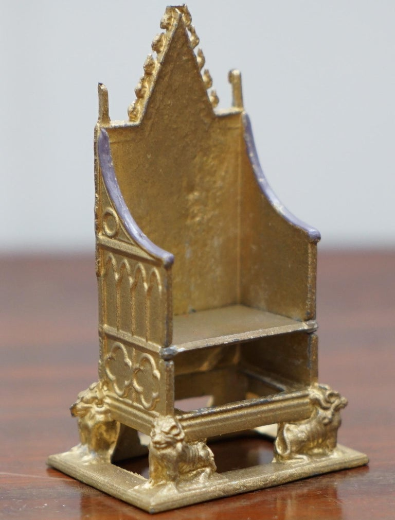 George III 1950s Vintage Britain's Model No. 86D of the Coronation Chair of England Queen For Sale