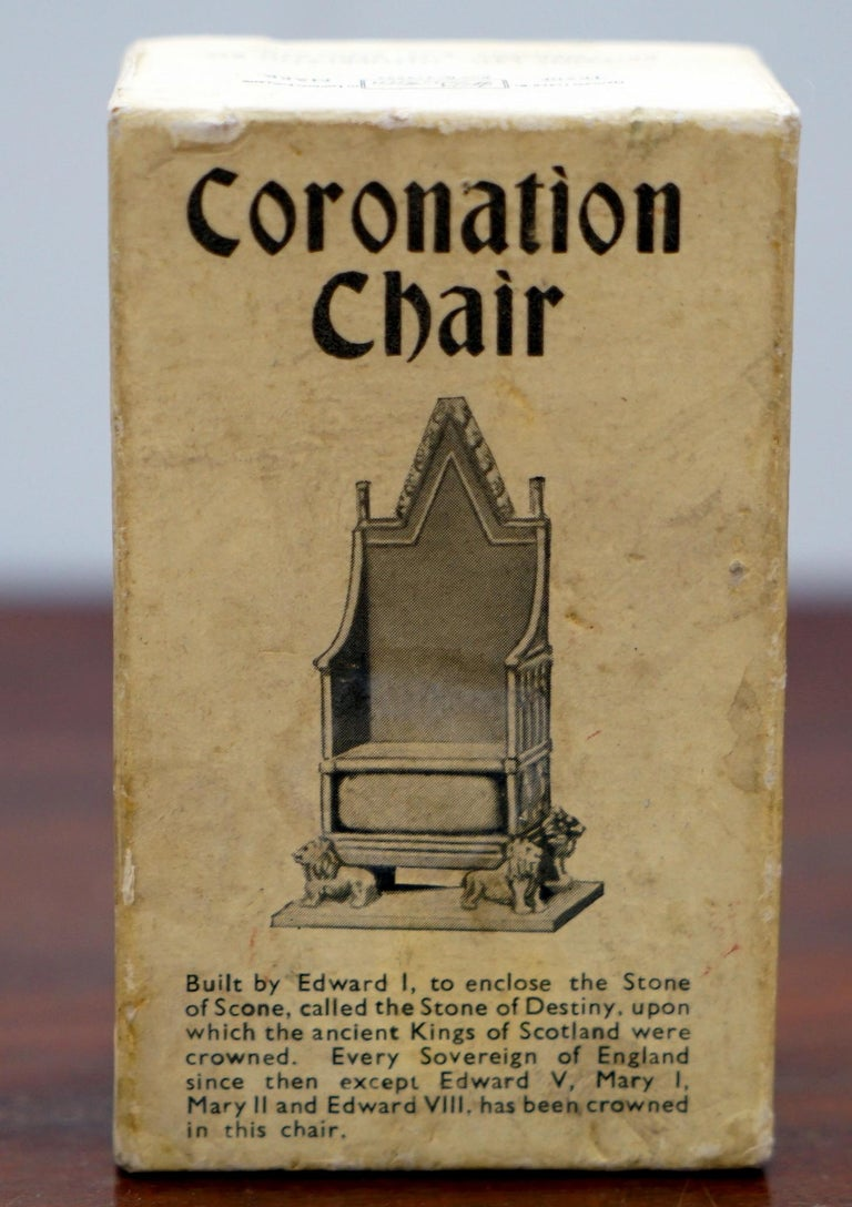 1950s Vintage Britain's Model No. 86D of the Coronation Chair of England Queen For Sale 2