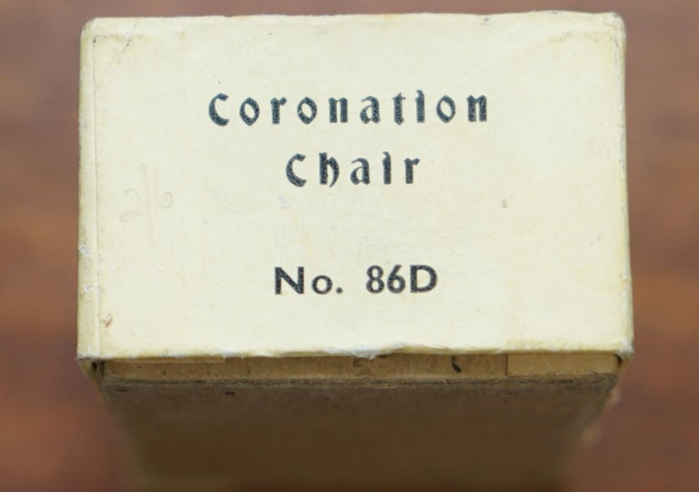 1950s Vintage Britain's Model No. 86D of the Coronation Chair of England Queen For Sale 7