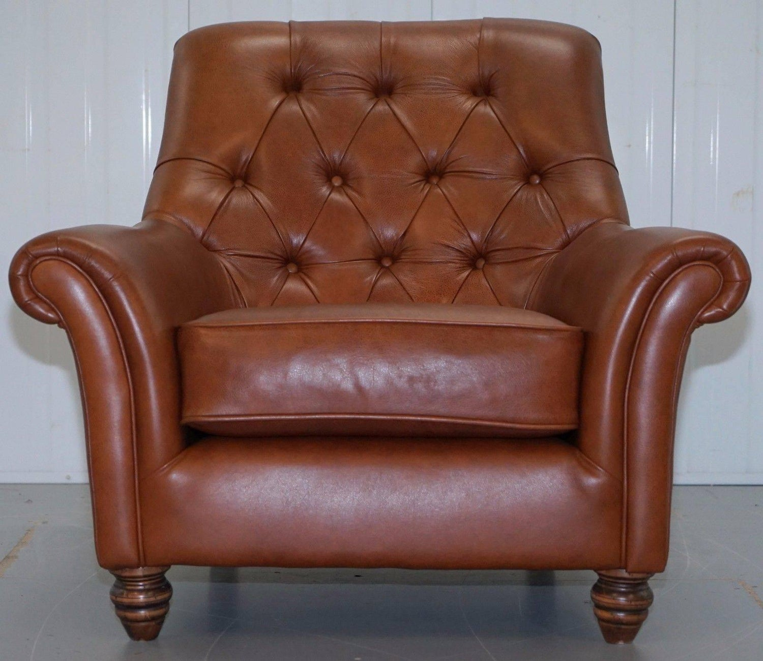 Brilliant Thomas Lloyd Chesterfield Brown Leather Sofa And Club Pabps2019 Chair Design Images Pabps2019Com