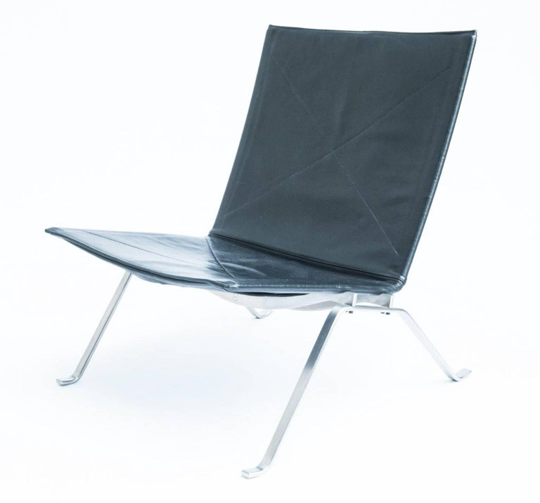 The iconic model PK-22 was designed in 1955, and is probably Kjærholms most famous design.   Produced and stamped by Fritz Hansen. Literature: Noritsugu Oda. 'Danish chairs', p. 181.