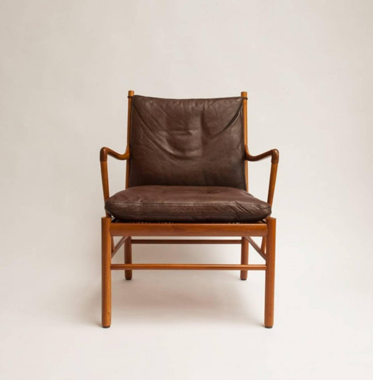 Scandinavian Modern Colonial Chair by Ole Wanscher For Sale