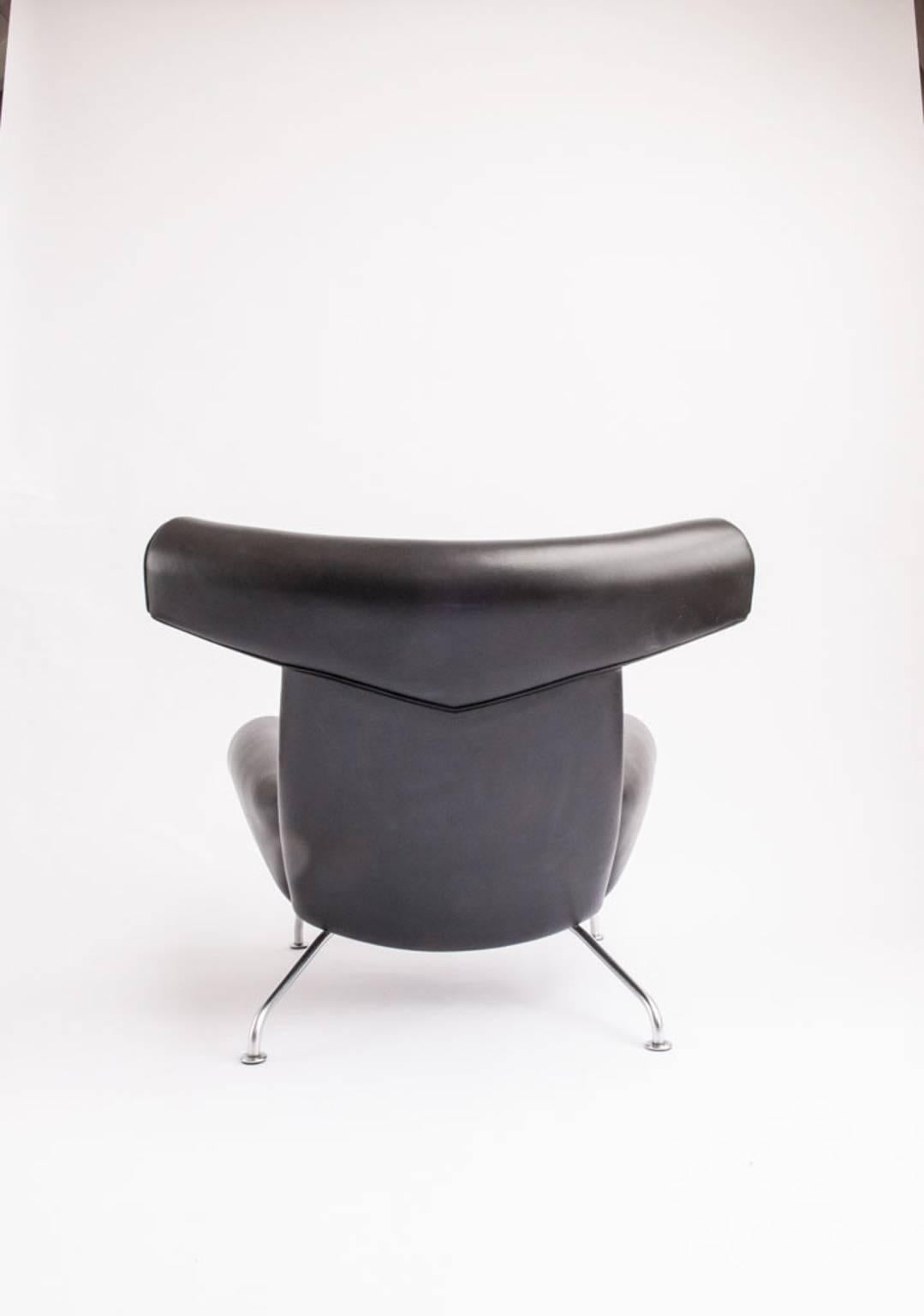 Mid 20th Century Hans J. Wegner Ox Chair Model EJ 100 For Sale