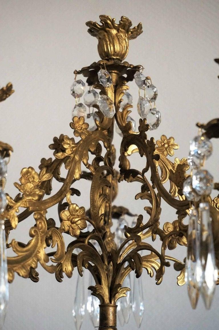 19. Jahrhundert, Paar Französische Empire Bronze Figuren und Vergoldete Bronze Kandelaber 9