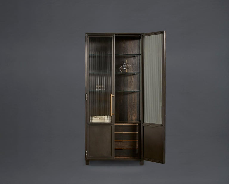 Amuneal's Frankford Gunmetal Hutch In New Condition For Sale In New York, NY