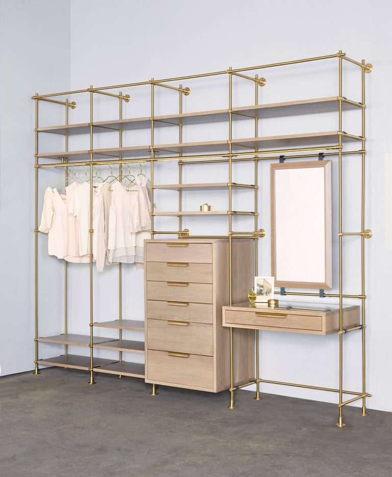 Modern Amuneal's Collector's Wardrobe + Vanity 4 Bay Unit For Sale