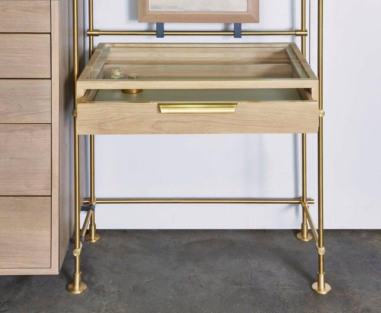 Brass Amuneal's Collector's Wardrobe + Vanity 4 Bay Unit For Sale