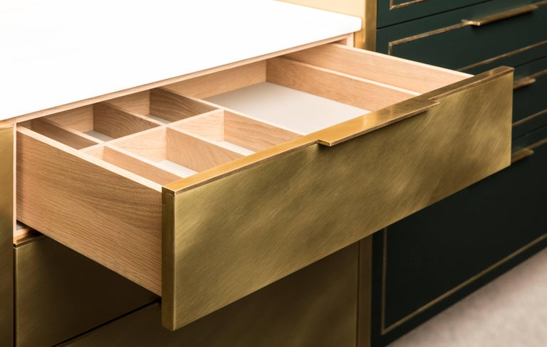 Modern Amuneal's Brass Pantry For Sale