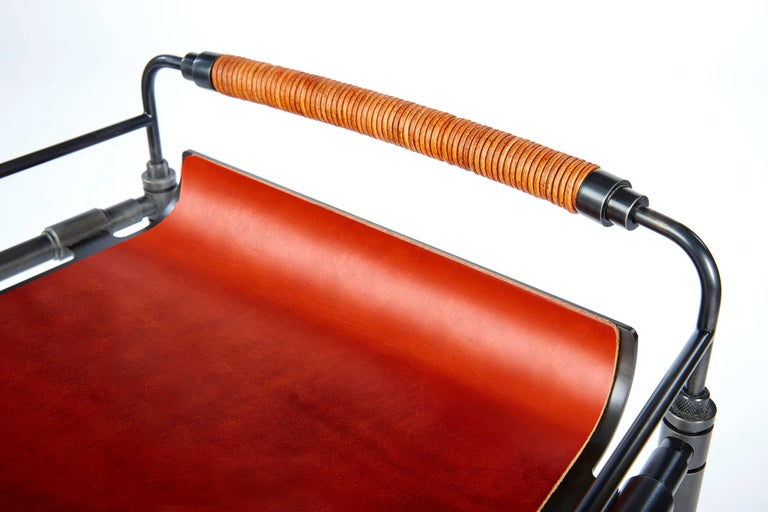 Amuneal's Leather Stool (Counter Height) In New Condition For Sale In New York, NY