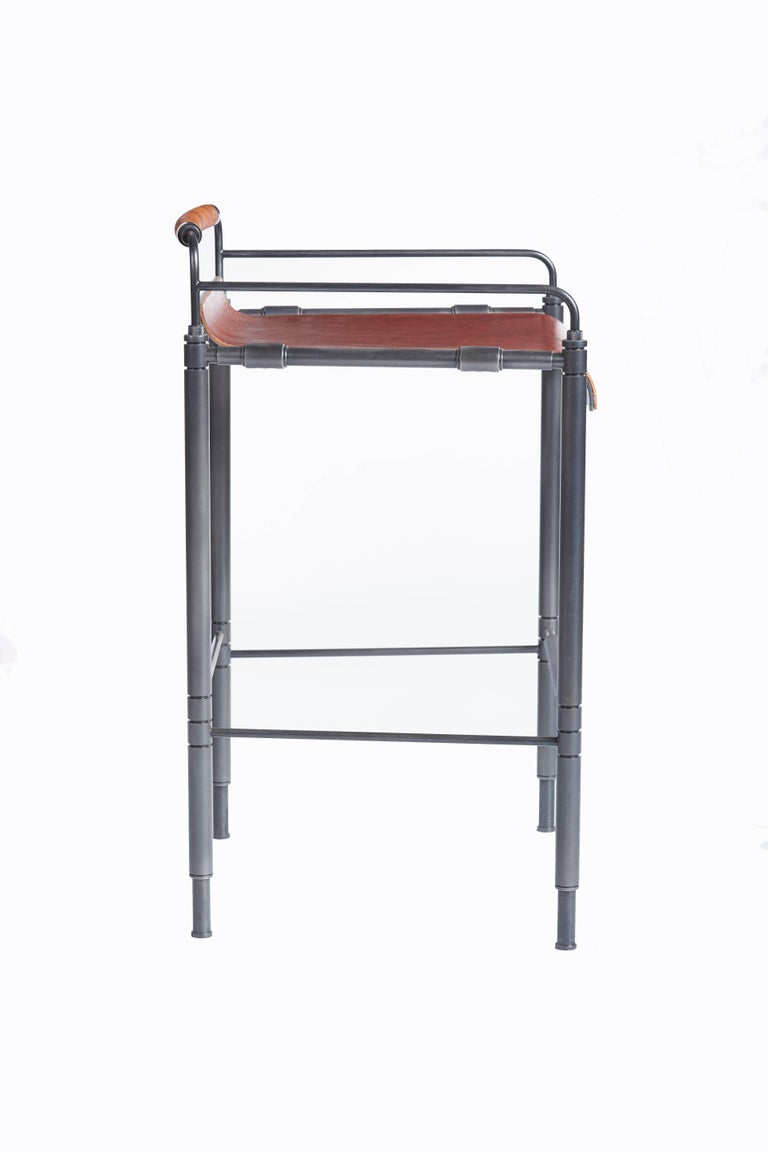 American Amuneal's Leather Stool (Counter Height) For Sale