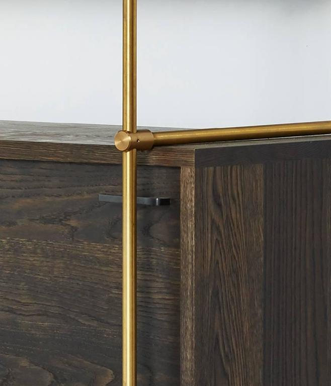 Contemporary Amuneal's Collector's 1 Bay with Credenza For Sale