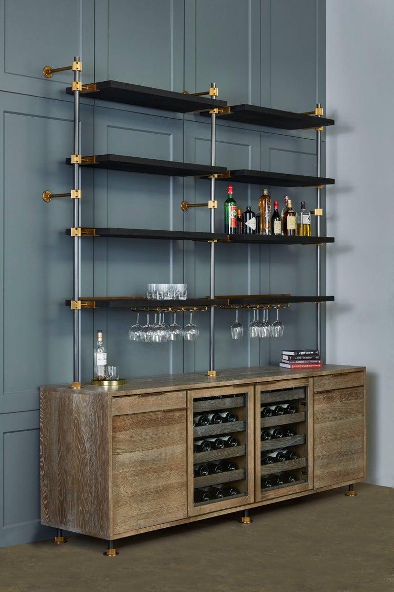 Modern Amuneal's Loft 3 Post Back Bar Unit For Sale