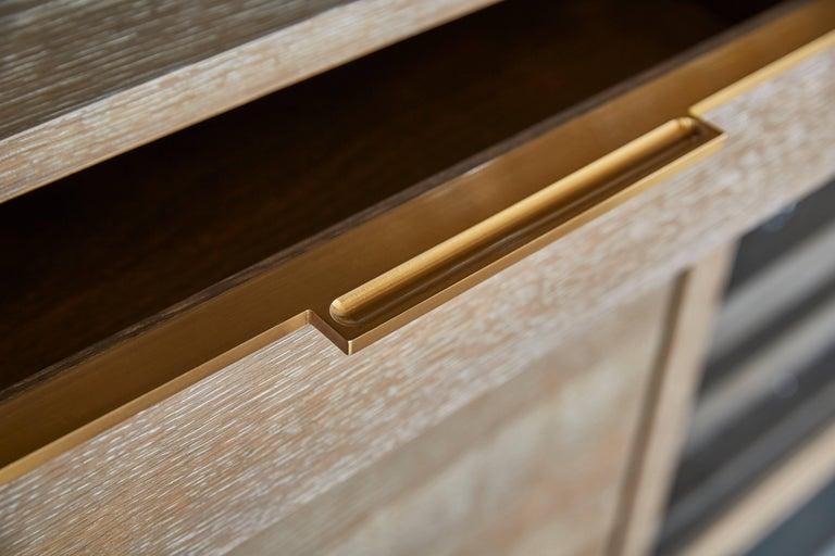Brass Amuneal's Loft 3 Post Back Bar Unit For Sale