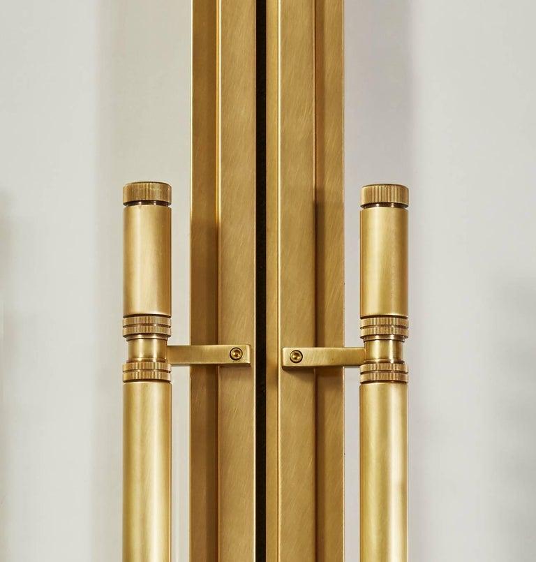 Modern Amuneal's Frankford Bronze + Glass Door Set For Sale