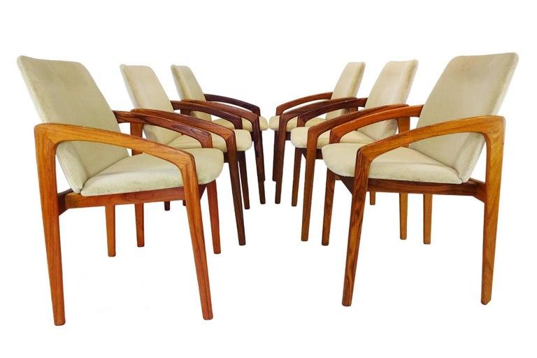 Set Of Six Danish Midcentury Kai Kristiansen Carver Dining Chairs - Carver dining chairs
