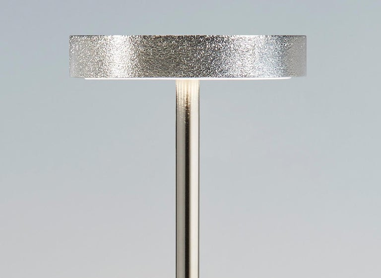 Modern Luxciole, Luxury Wireless Table Lamp, Set of 10 Gilt Brass Made in France For Sale
