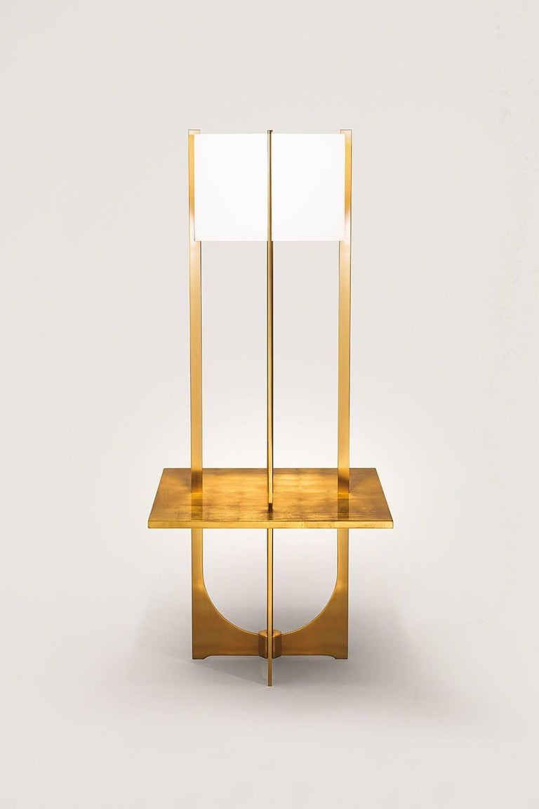Arceaux Plateau Floor Lamp Design Jacques Charles, Made in France, Charles Paris 3