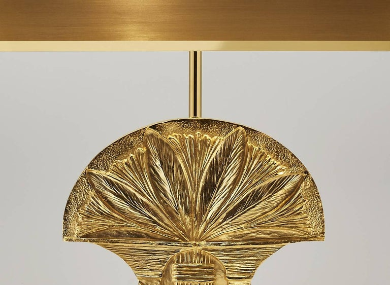 Table Lampe Assouan Made of Brass Signed and Numbered Made in France Rare In Excellent Condition For Sale In Saint-denis, FR