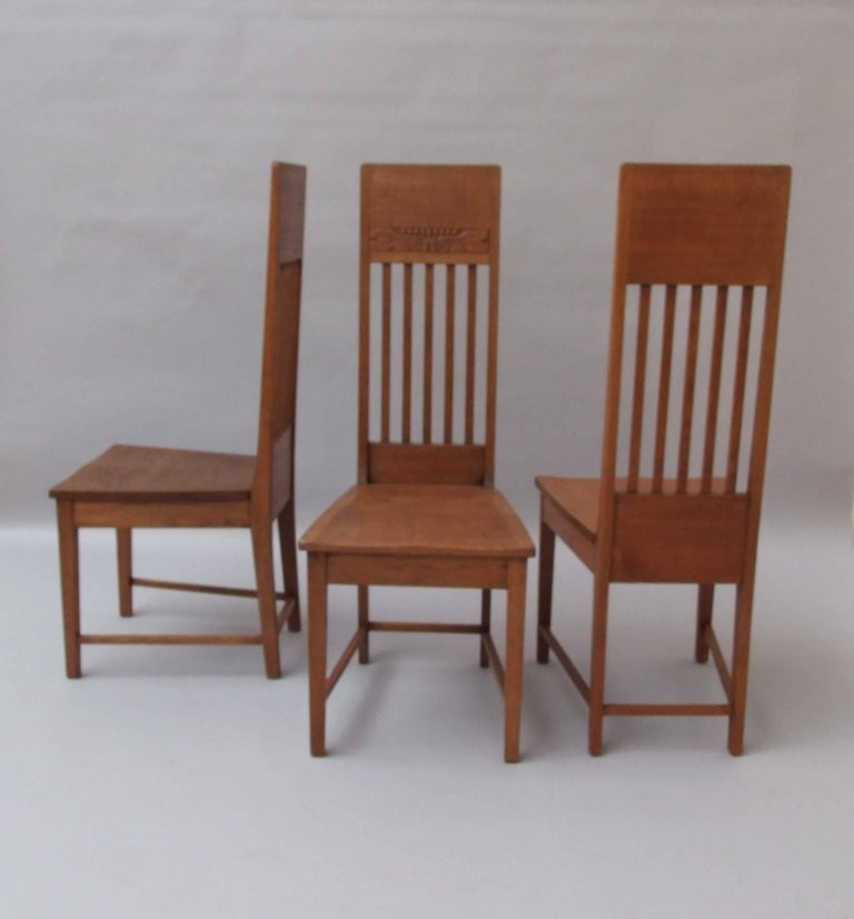 Glasgow school oak dining chairs for sale at stdibs