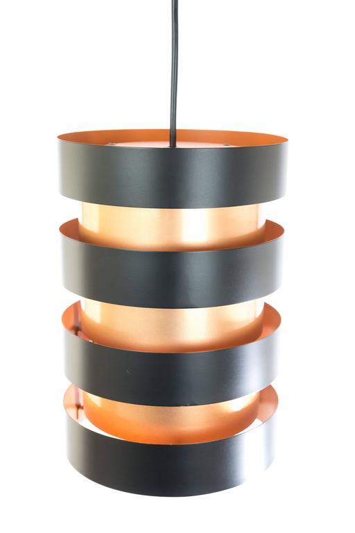 Mid-Century Modern Copper and Black 'Eiffel' Pendant by Jo Hammerborg for Fog & Mørup, 1960s For Sale