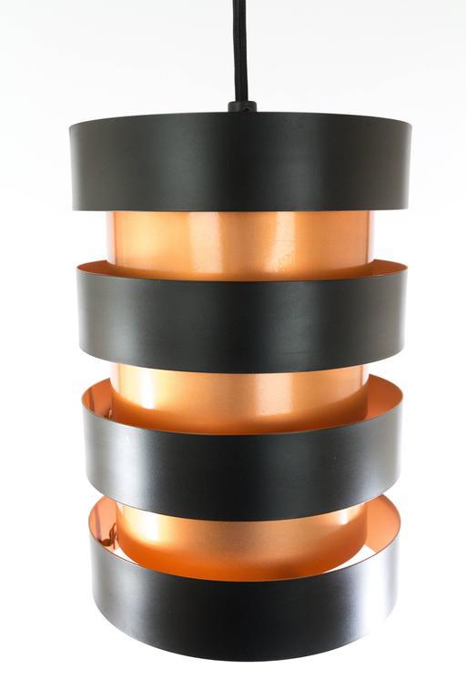 Danish Copper and Black 'Eiffel' Pendant by Jo Hammerborg for Fog & Mørup, 1960s For Sale